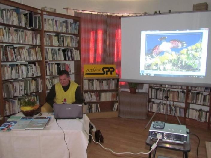 Miroslav Saniga v Oravskej knižnici