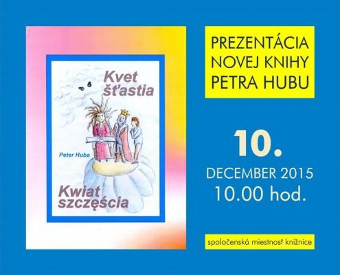 Prezentácia novej knihy Petra Hubu