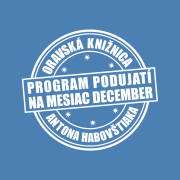 Program podujatí na mesiac december