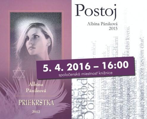 Prezentácia kníh Postoj a Priekrstka