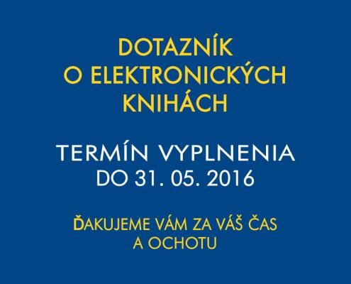 Dotazník o elektronických knihách
