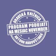 Program podujatí na mesiac november