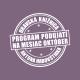 Program podujatí na mesiac október