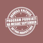 Program podujatí na mesiac september