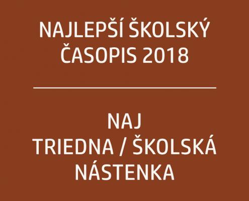 Súťaž o naj školský časopis a nástenku 2018