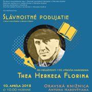 Slávnostné podujatie pri príležitosti 110. výročia narodenia Thea Herkeľa Florina