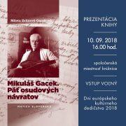 Prezentácia knihy Mikuláš Gacek. Päť osudových návratov