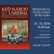 Prezentácia knihy Keď národ umieral