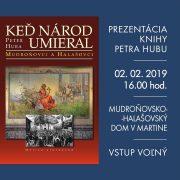 Prezentácia knihy Mudroňovci a Halašovci