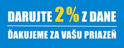 Darujte 2 % z dane