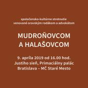 Stretnutie venované Mudroňovcom a Halašovcom