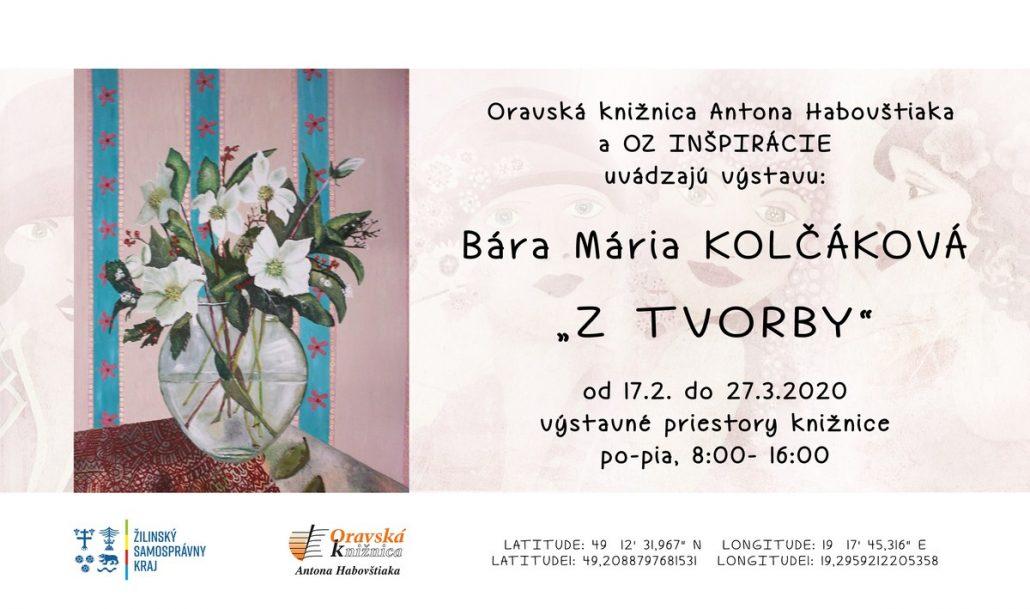 """Pozvánka Bára Mária Kolčáková """"Z tvorby"""""""