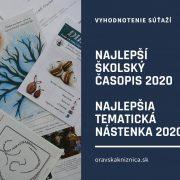 Vyhodnotenie súťaží o naj školský časopis a nástenku 2020