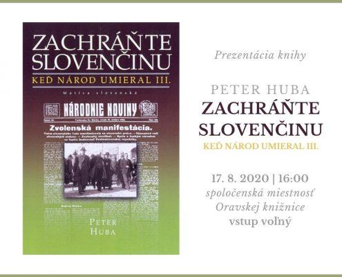 Prezentácia knihy Petra Hubu Zachráňte slovenčinu