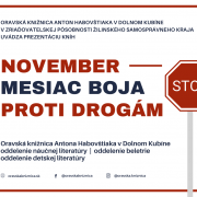 November - mesiac boja proti drogám