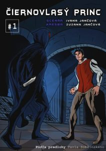 Titulná strana komiksu Čiernovlasý princ