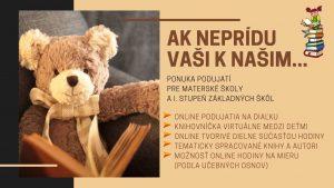 Online podujatia pre materské školy a I. stupeň ZŠ