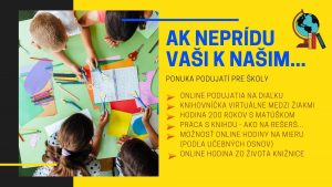 Online podujatia pre II. stupeň ZŠ a osemročné gymnáziá