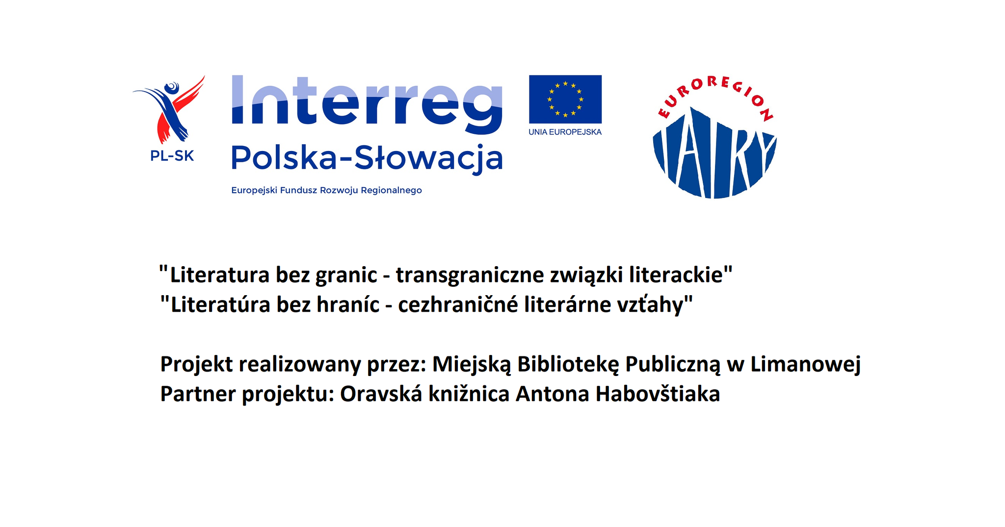 Plagát Literatúra bez hraníc - cezhraničné literárne vzťahy