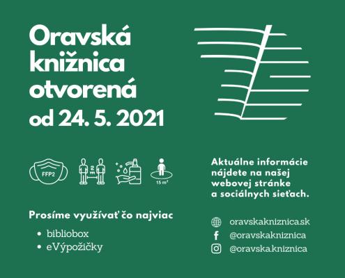 Knižnica otvorená od 24. mája
